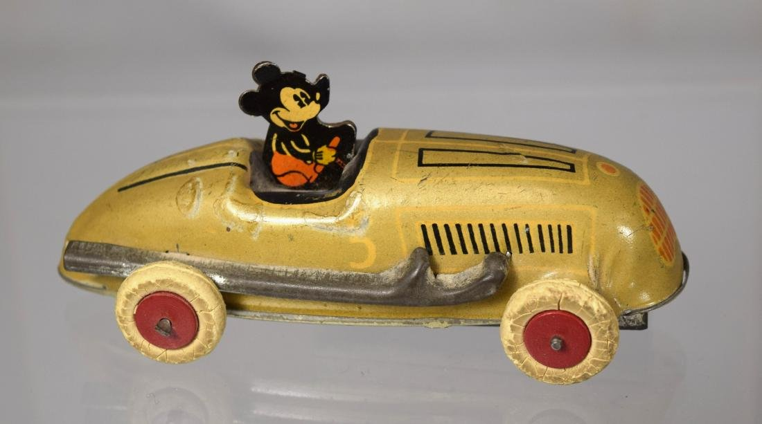 LINDSTROM MICKEY MOUSE WIND-UP RACER TOY: