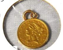 US 1902S FIVE DOLLAR GOLD COIN