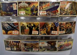 89 PART SET OF 1951 TOPPS SCOOP TRADING CARDS