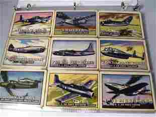 TOPPS 1952 WINGS TRADING CARDS JETS TRADING CARDS