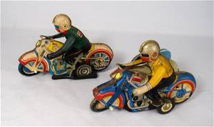 VINTAGE TIN KEYWIND LITHOGRAPH MOTORCYCLE MOTORCYCLE