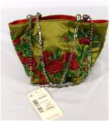 VINTAGE VALENTINO GARAVANI BEADED EVENING PURSE