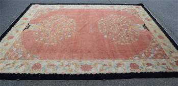 ROOMSIZE CHINESE ORIENTAL RUG: