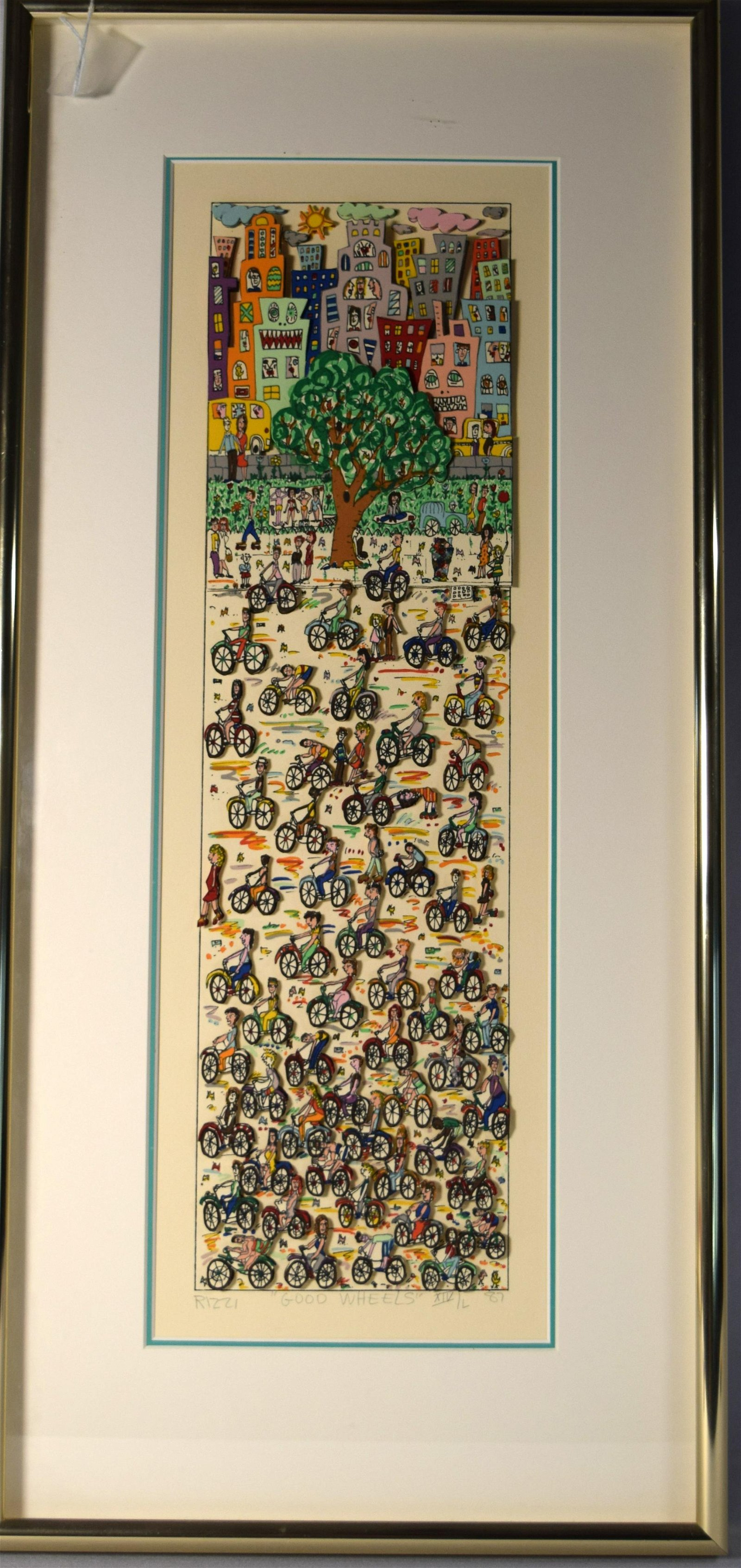 JAMES RIZZI 3-D LITHOGRAPH: