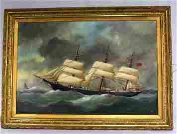 EDWARD ADAM SHIP PAINTING: