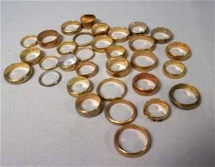 ASSEMBLED 14K GOLD WEDDING BAND GROUPING