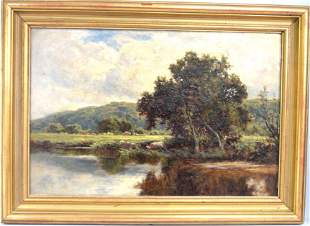 HENRY H. PARKER OIL PAINTING 1858-1930