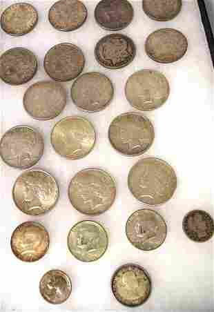 US SILVER DOLLARS, SILVER COINS, & ETC