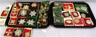 37 STERLING SILVER CHRISTMAS & ETC. ITEMS