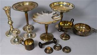 14 STERLING WEIGHTED & SOLID TABLE ITEMS