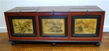 EARLY CHINESE THREE BAY RICE CHEST: