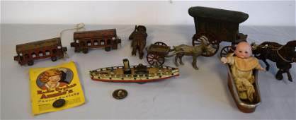 ASSEMBLED ANTIQUE TOY GROUPING