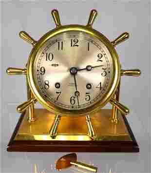 CHELSEA SHIP BELLS DESK CLOCK