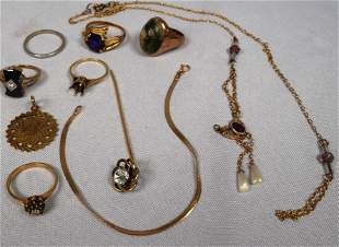 ASSEMBLED GOLD JEWELRY GROUPING