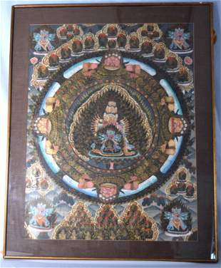 TIBETAN HAND PAINTED THANGKA