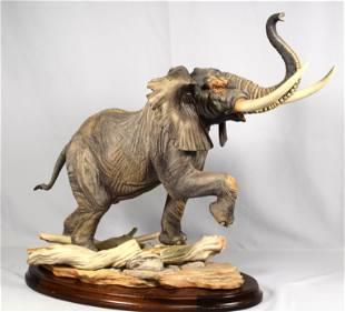 LARGE BOEHM PORCELAIN ELEPHANT