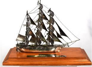 STERLING CUTTY SARK SHIP MODEL