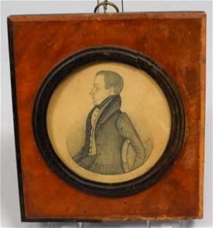 J. M. CROWLEY MINIATURE MINIATURE PENCIL DRAWING