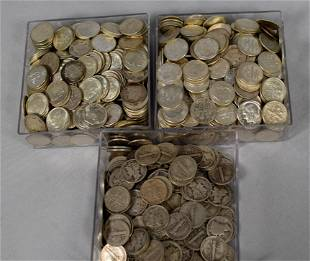 APPROX. 954 US SILVER MERCURY & ROOSEVELT DIMES