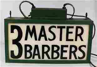 NEON BARBER TRADE SIGN