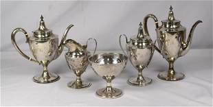 (6) PIECE STERLING SILVER TEA SERVICE