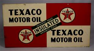 TEXACO MOTOR OIL PAINTED DOUBLE SIDED SIGN