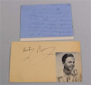 JUDY GARLAND PERSONAL HAND WRITTEN NOTE 1938