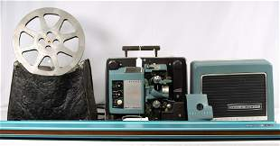 BELL & HOWELL 16MM PROJECTOR WITH SCREEN