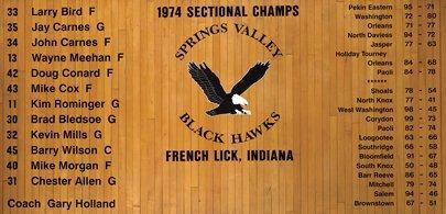 9: Larry Bird High School Gym Floor w/ Signed Plaque