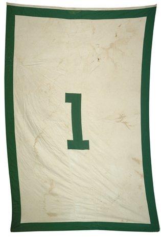 "13: Boston Garden Retired ""1"" Banner of Walter Brown"