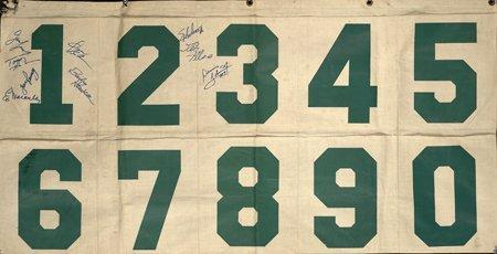 14: Boston Garden Signed Scorers Table Foul Banner