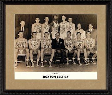 16: 1956-1957 Boston Celtics Autographed Team Photo
