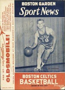 17: 1956-1957 Boston Celtics Team Autographed Program