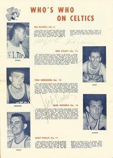 17: 1956-1957 Boston Celtics Team Autographed Program - 2