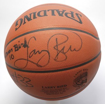 21: 1998 Larry Bird & Son Autographed Basketball