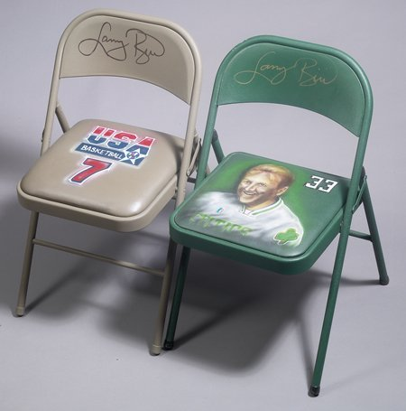 22: 4 Larry Bird Autographed Chairs Private Signings