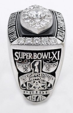 34: 1976 Raiders Super Bowl XI Championship Ring