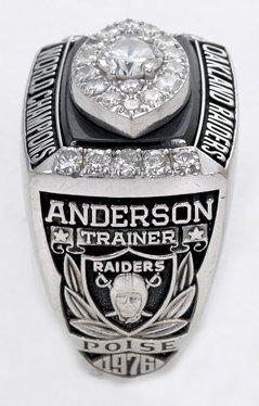 34: 1976 Raiders Super Bowl XI Championship Ring - 2