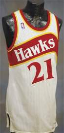 68: 1986-1987 Wilkins Game-Used & Signed Jersey