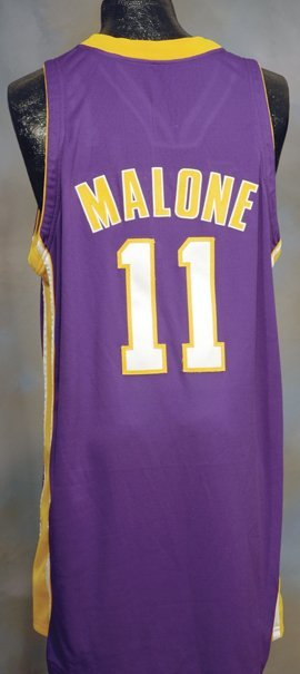 95: 2003-2004 Karl Malone Lakers Game-Used Jersey