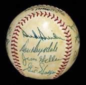 156: 1959 LA Dodgers Team Signed Baseball