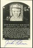 198: Jackie Robinson Autographed Hall of Fame Postcard