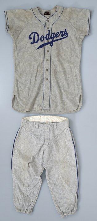 207: 1954 Pee Wee Reese Dodgers Game-Used Uniform