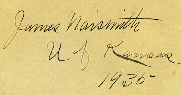 3: Exceptional James Naismith Autographed Cut (JSA)