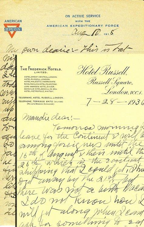 5: Lot of Six James Naismith Signed Letters (6) (JSA)