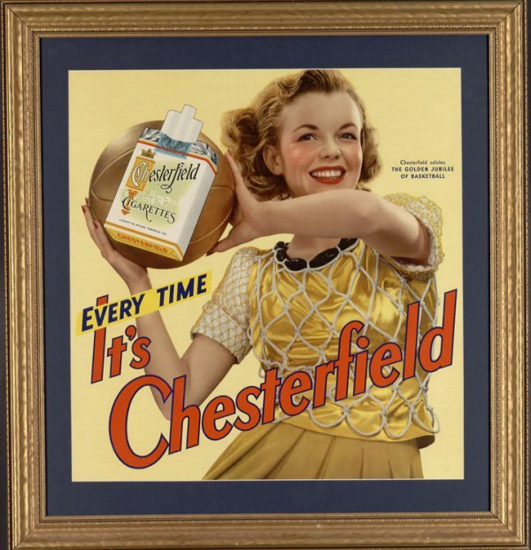 6: 1942 Framed Chesterfield Golden Jubilee Of Basketbal