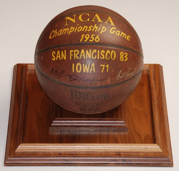16: 1956 NCAA Championship Game-Used Basketball Autogra