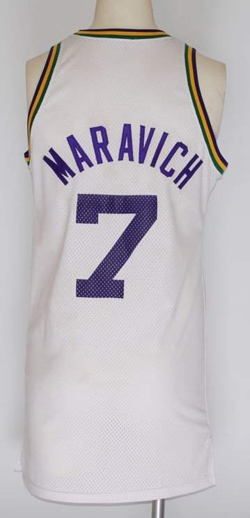 64: Circa 1976 Pete Maravich Utah Jazz Game-Used Home J
