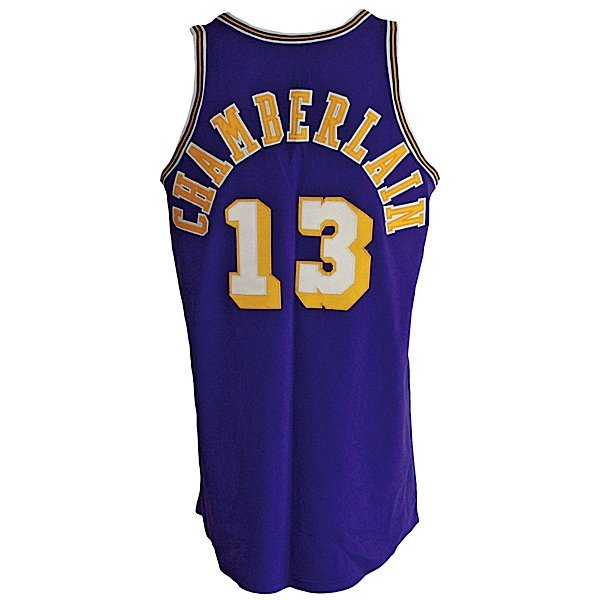 7: Ca 72 Wilt Chamberlain Lakers Game-Used Road Jersey