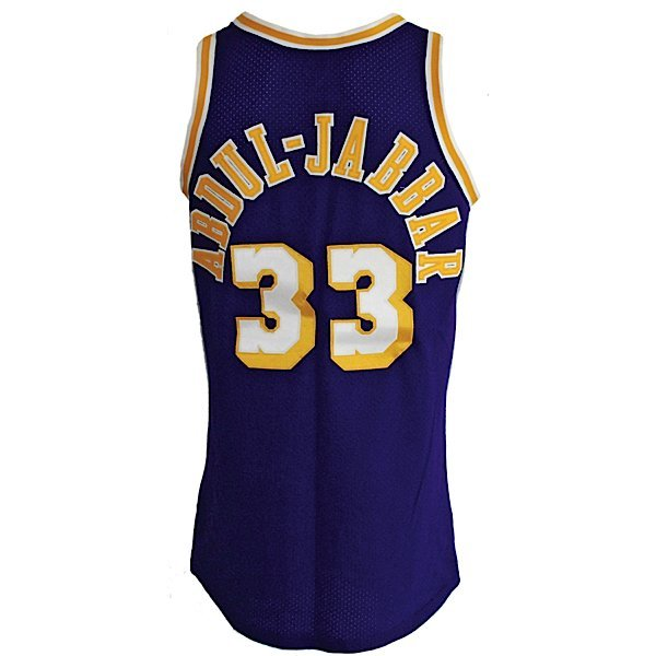 9: Ca 1984 Kareem Abdul-Jabbar Lakers Game-Used Jersey
